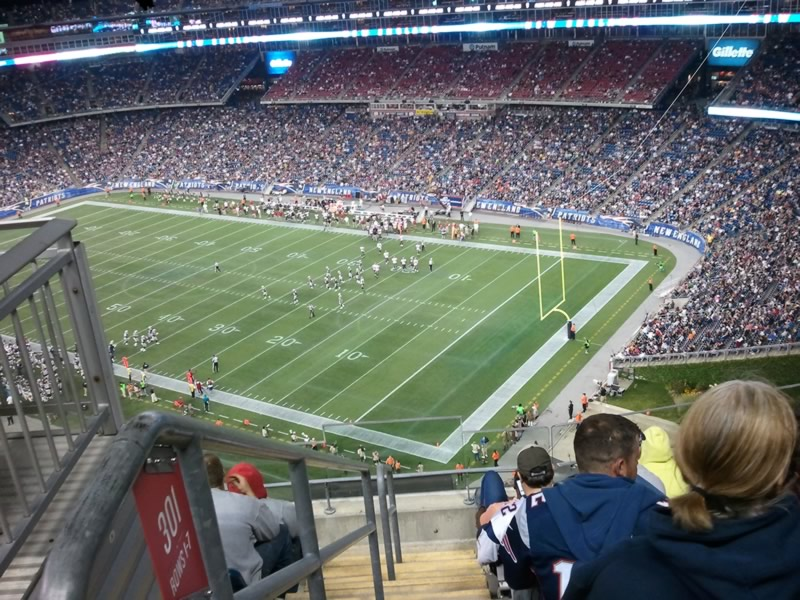 New England Patriots Seat View for Gillette Stadium Section 301, Row 5, Seat 22