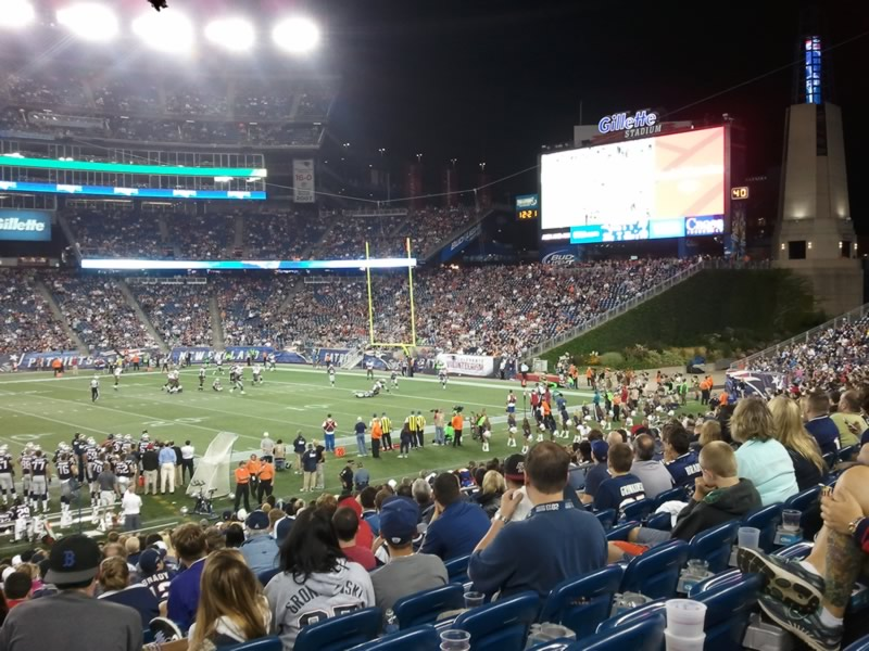 New England Patriots Seat View for Gillette Stadium Section 109, Row 21, Seat 18
