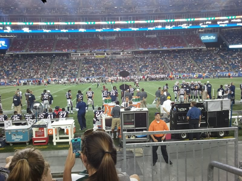 New England Patriots Seat View for Gillette Stadium Section 110, Row 4, Seat 1