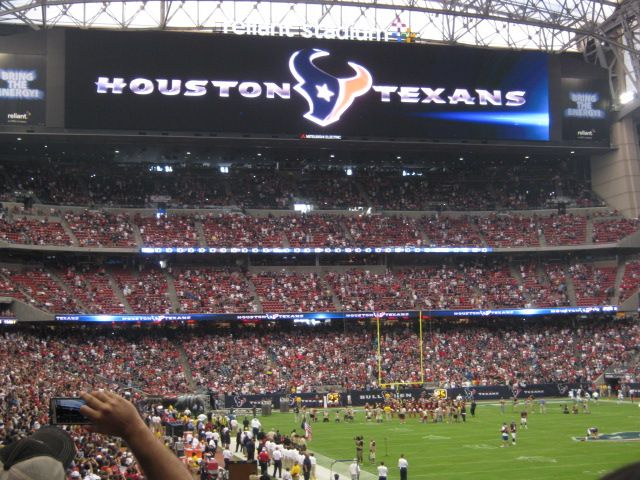 Houston Texans Seat View for NRG Stadium Section 140, Row V