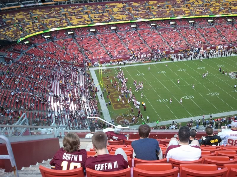 Seat View for FedExField Section 405, Row 11, Seat 19