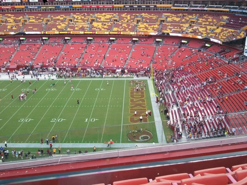 Seat View for FedExField Section 424, Row 4, Seat 9