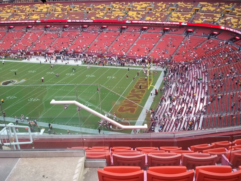 Seat View for FedExField Section 422, Row 7, Seat 12
