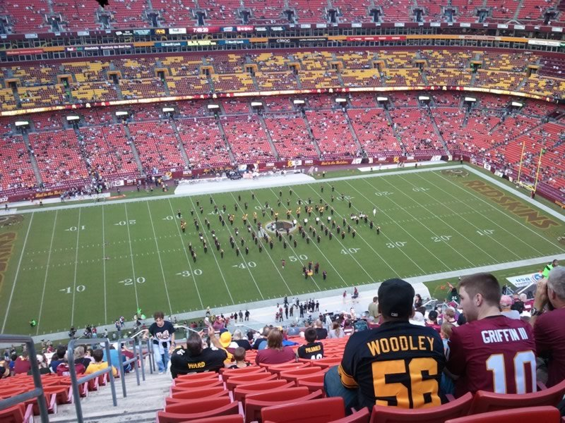 Seat View for FedExField Section 402, Row 27, Seat 27