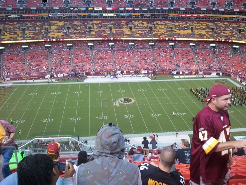 Seat View for FedExField Section 401, Row 17, Seat 24