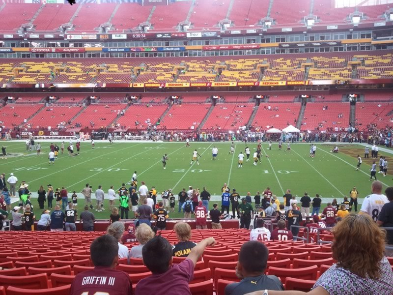 Seat View for FedExField Section 119, Row 22, Seat 6