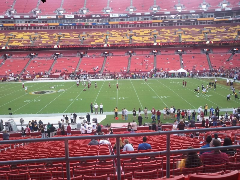 Seat View for FedExField Section 220, Row 4, Seat 12