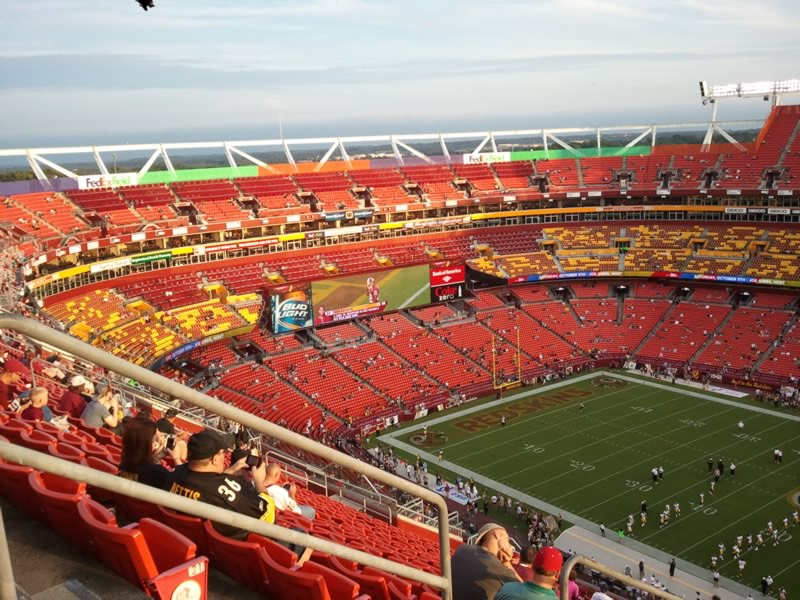 Seat View for FedExField Section 424, Row 23, Seat 23