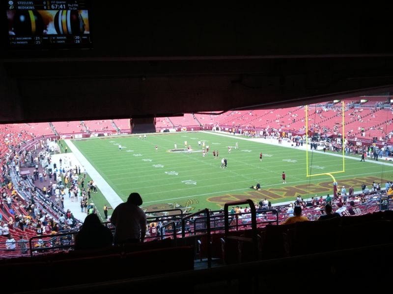 Seat View for FedExField Section 213, Row 18, Seat 27