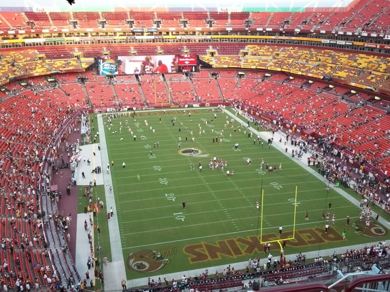 Seat View for FedExField 416 SRO, Row 11