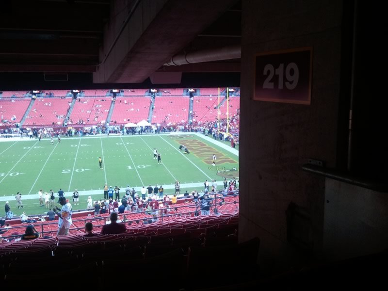 Seat View for FedExField Section 219, Row 16, Seat 16