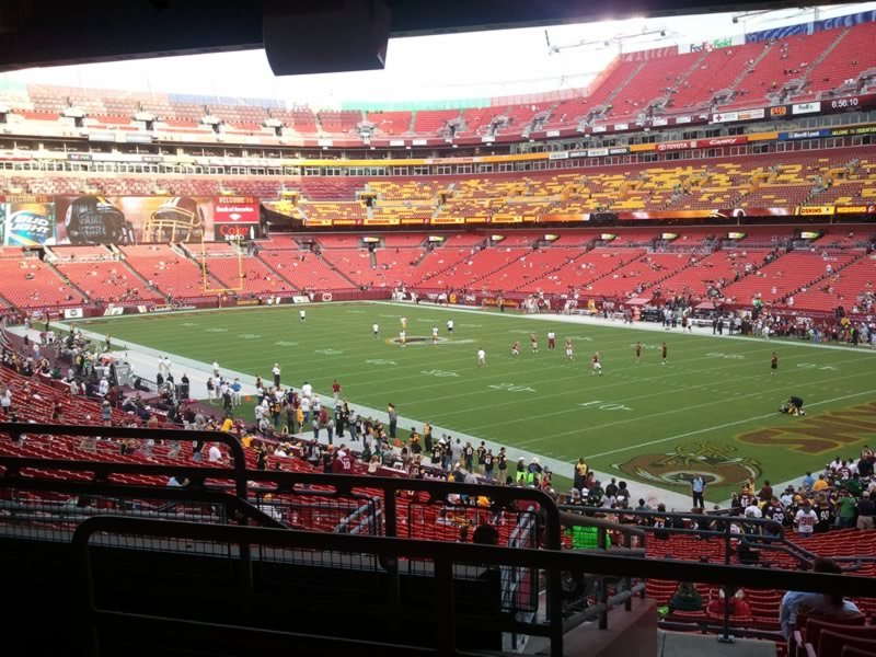 Seat View for FedExField Section 215, Row 10, Seat 25