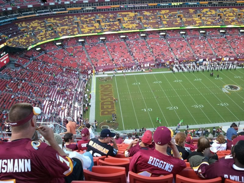 Seat View for FedExField Section 404, Row 15, Seat 20