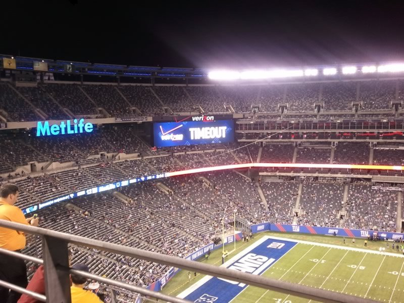 Seat View for MetLife Stadium Section 314, Row 8, Seat 10