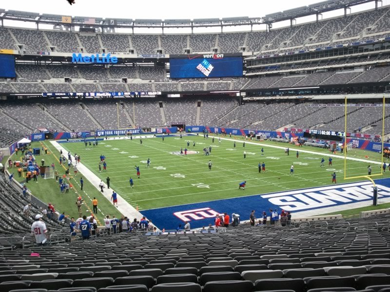 Seat View for MetLife Stadium Section 104, Row 39, Seat 18