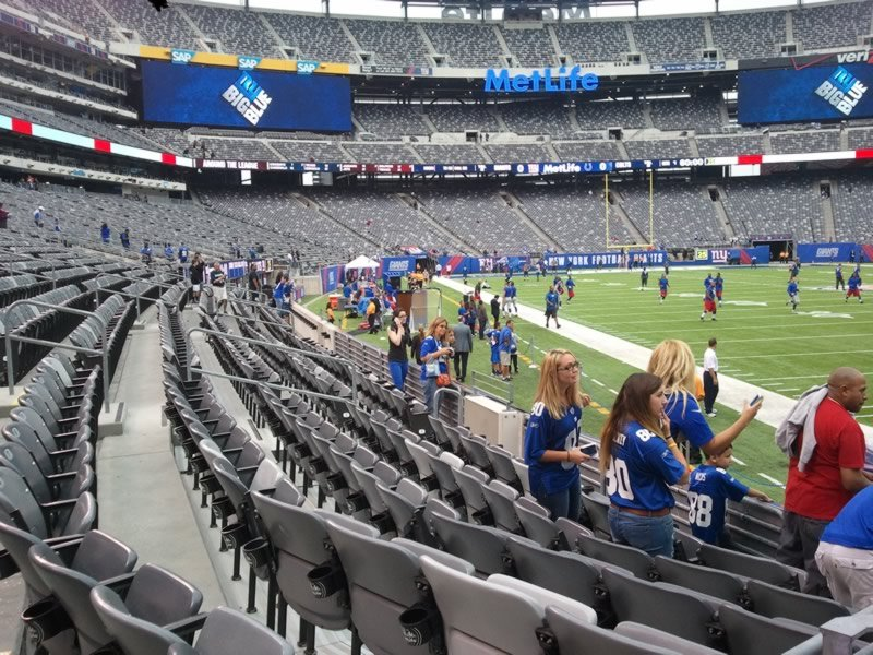 Seat View for MetLife Stadium Section 106, Row 7, Seat 7