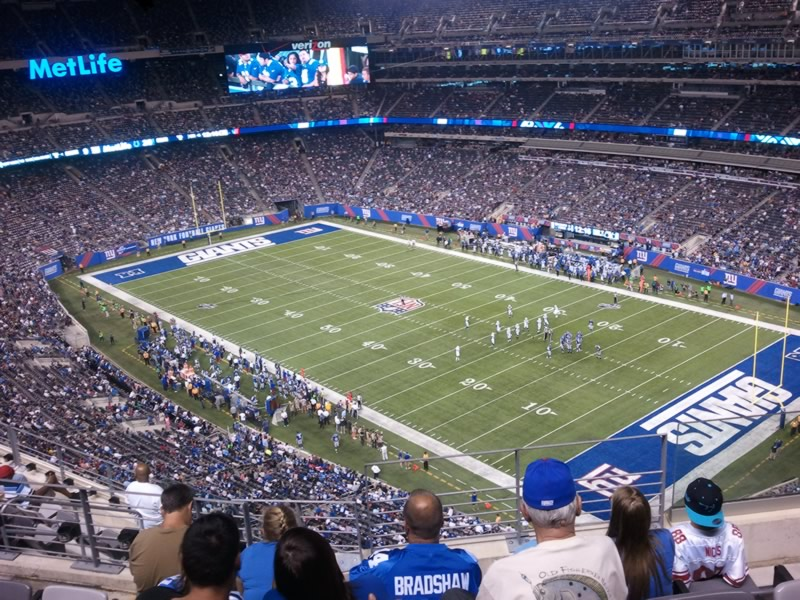 Seat View for MetLife Stadium Section 307, Row 10, Seat 4