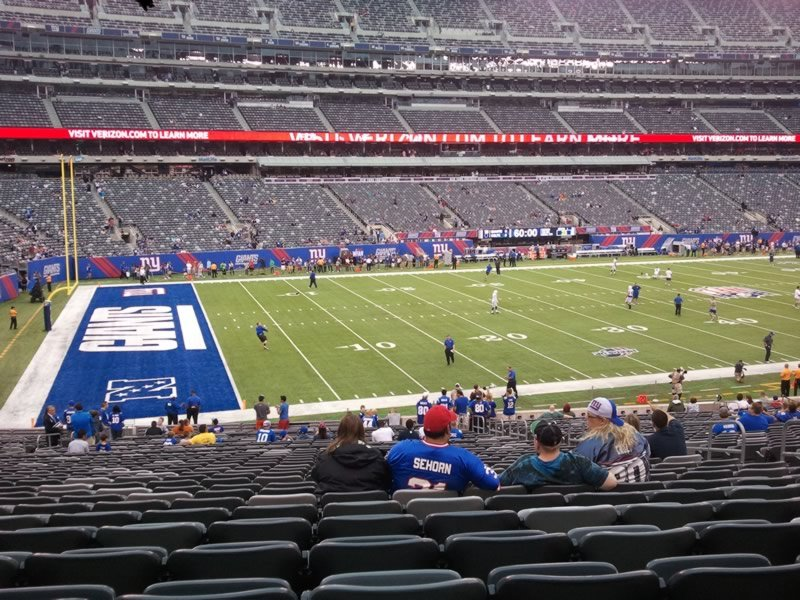 Seat View for MetLife Stadium Section 117, Row 35, Seat 8