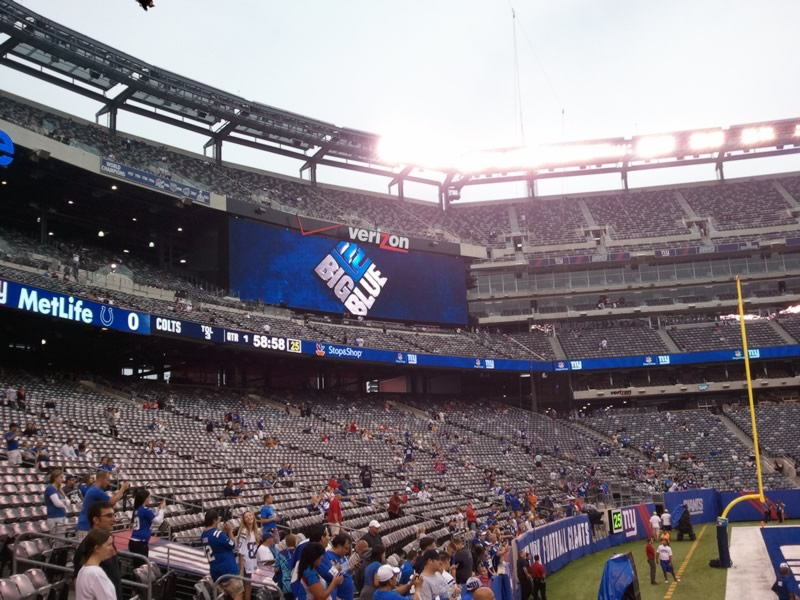 Seat View for MetLife Stadium Section 118, Row 10, Seat 5