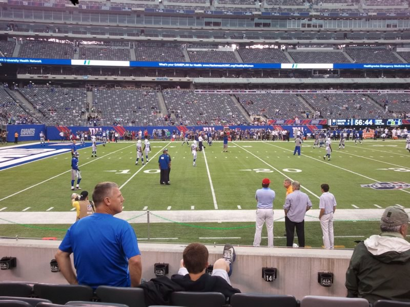 Seat View for MetLife Stadium Section 116, Row 5, Seat 4