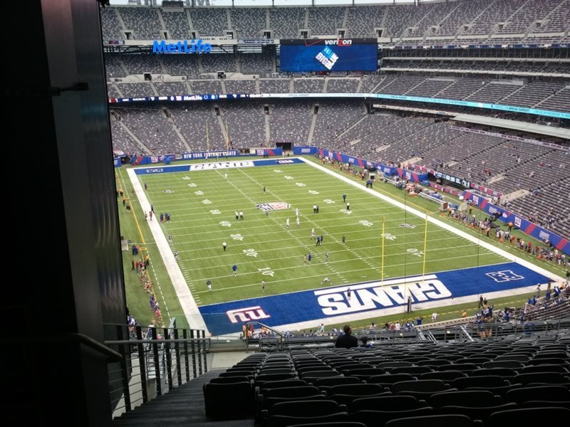 Seat View for MetLife Stadium Section 203B, Row 18, Seat 25
