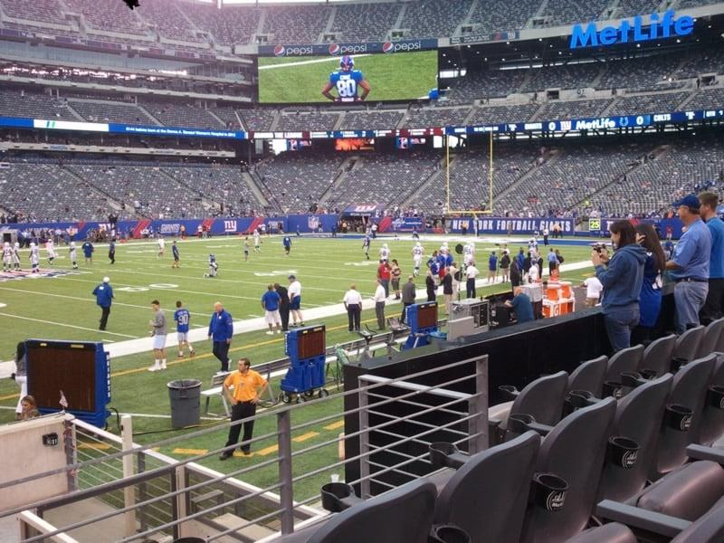 MetLife Stadium Section 115C - Giants/Jets - RateYourSeats.com