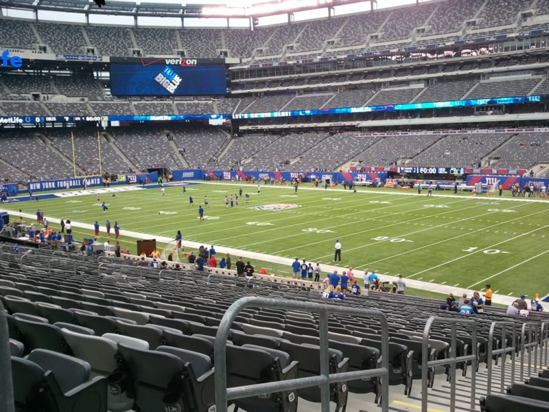 Seat View for MetLife Stadium Section 108, Row 32, Seat 2
