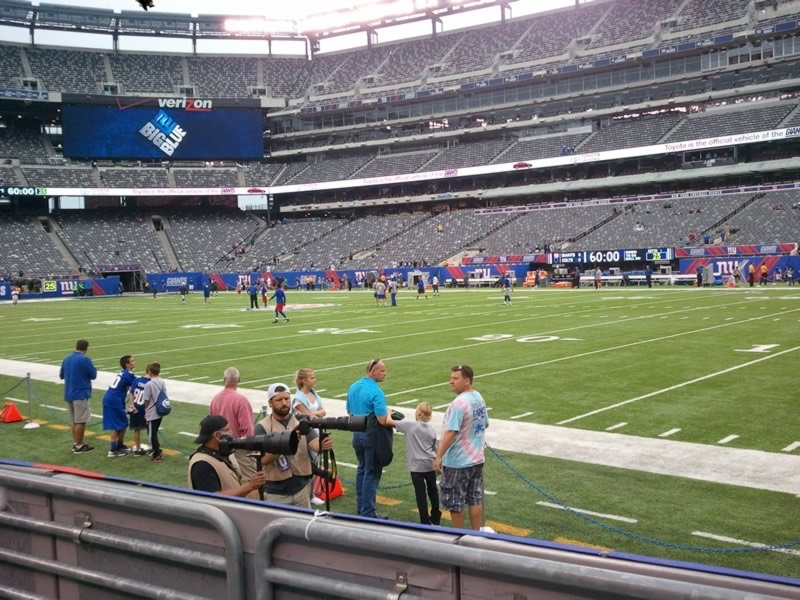 Seat View for MetLife Stadium Section 109, Row 2, Seat 13