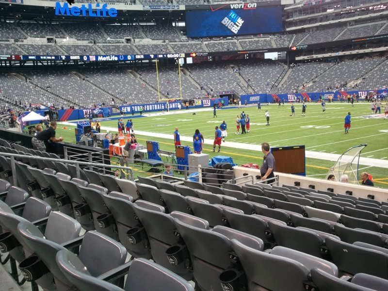 Seat View for MetLife Stadium Section 111A, Row 10, Seat 1