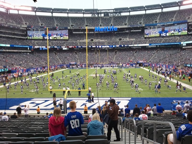 Seat View for MetLife Stadium Section 126, Row 24, Seat 1