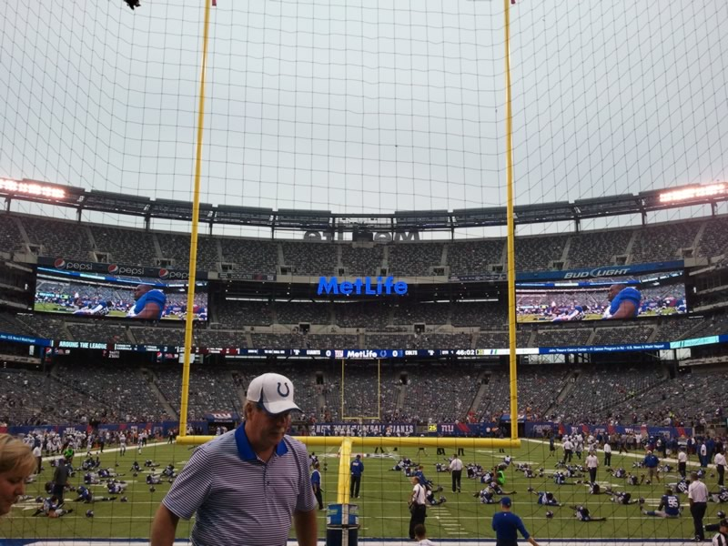 Seat View for MetLife Stadium Section 126, Row 5, Seat 11