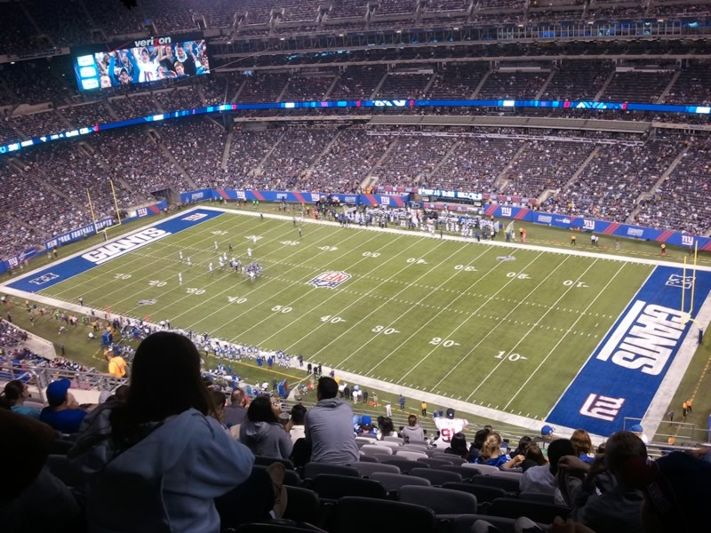 Seat View for MetLife Stadium Section 309, Row 21, Seat 5