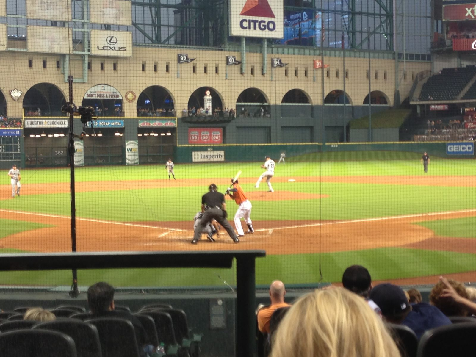 Seat View for Minute Maid Park Section 120, Row 14, Seat 1