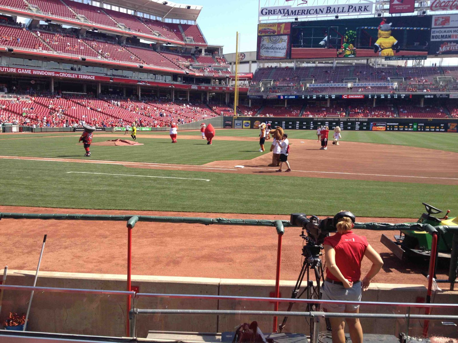 View from Section 131 Row H at Great American Ballpark