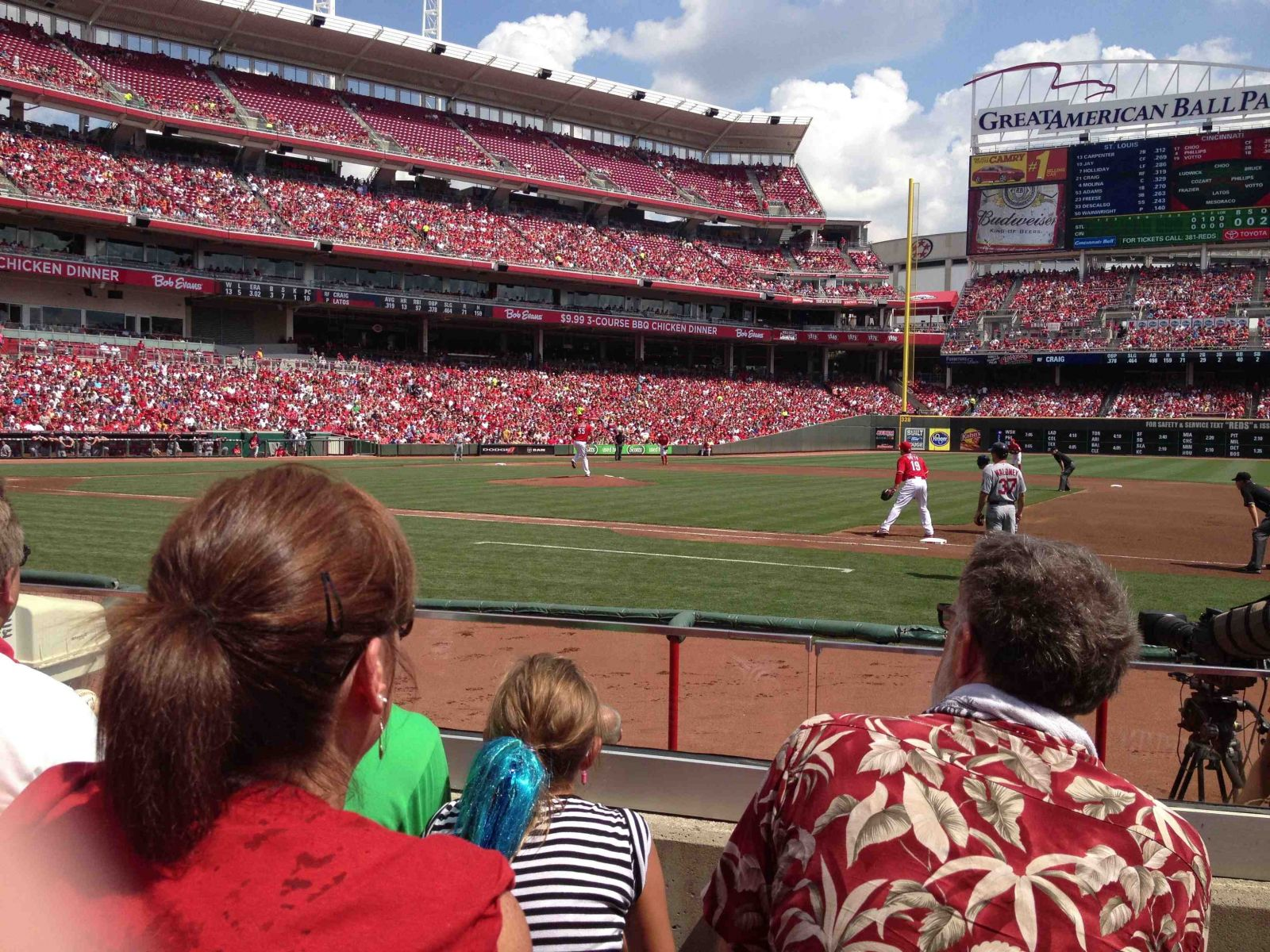 Seat View for Great American Ball Park Section 131, Row H
