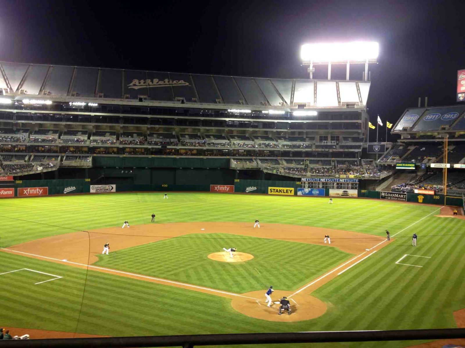 Oakland Athletics Seat View for Oakland Coliseum Section 218, Row 2