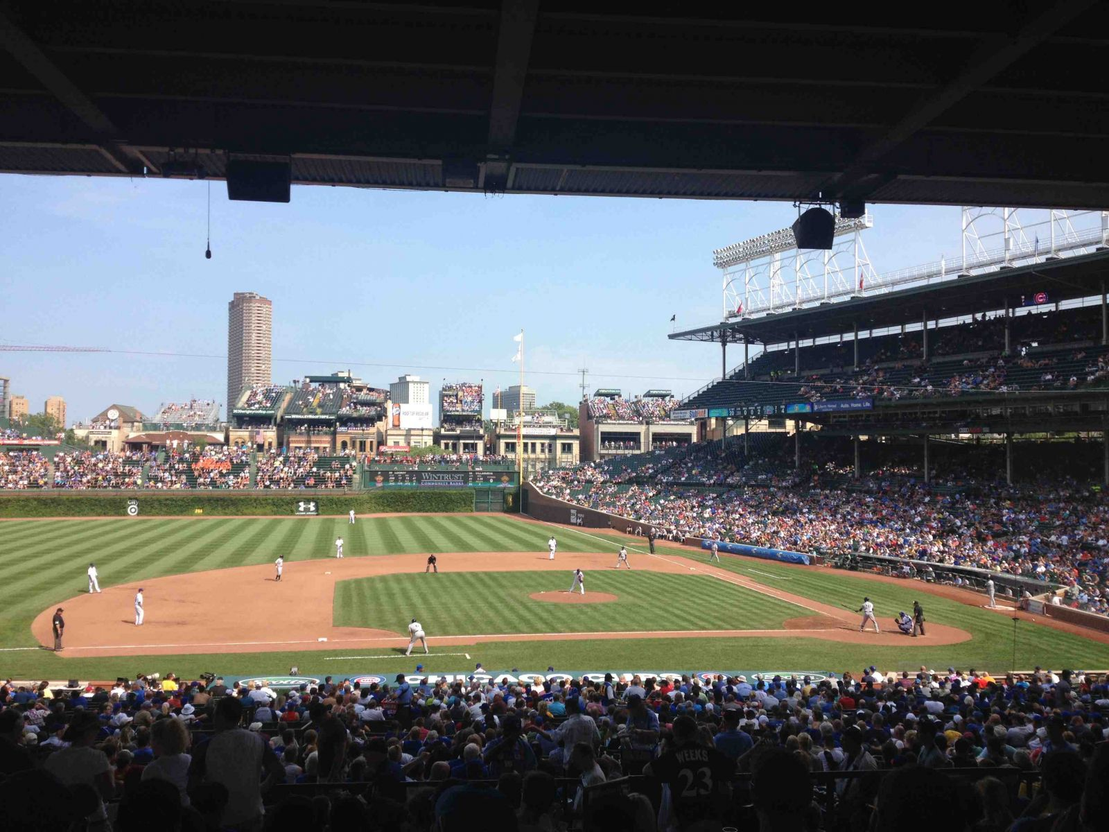 Seat View for Wrigley Field Section 213, Row 12, Seat 7