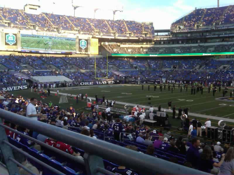 Seat View for M&T Bank Stadium Section 152, Row 19, Seat 1