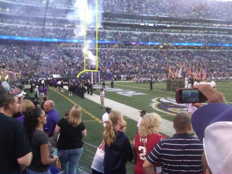 Seat View for M&T Bank Stadium Section 109, Row 4, Seat 1