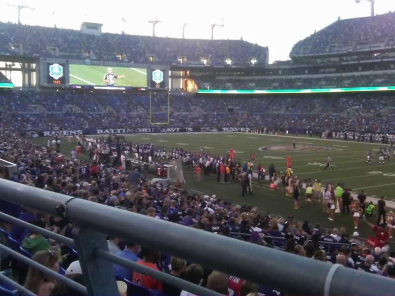Seat View for M&T Bank Stadium Section 121, Row 19, Seat 3