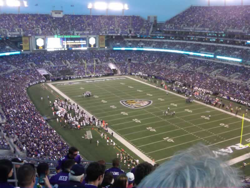 Seat View for M&T Bank Stadium Section 545, Row 17, Seat 15