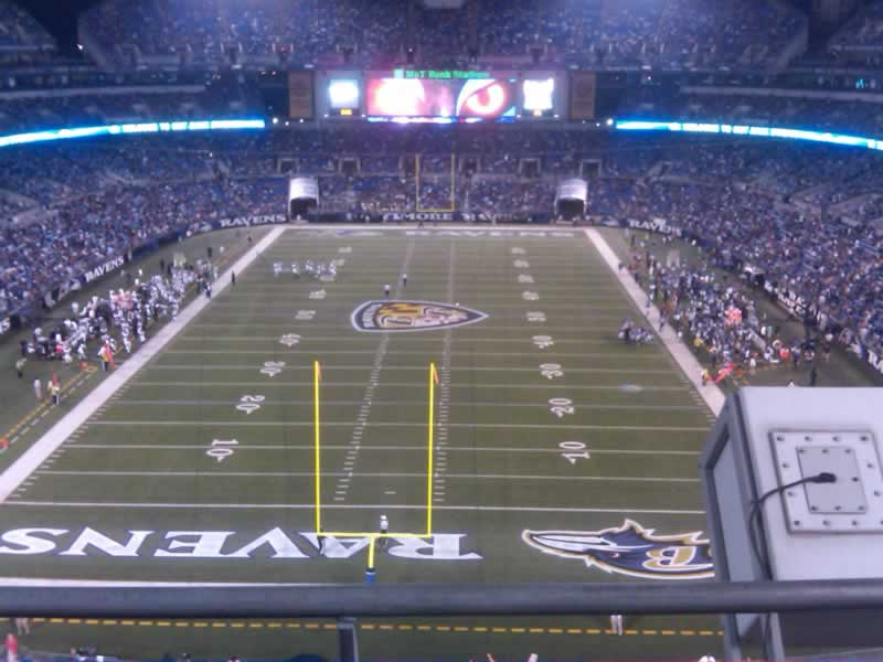 Seat View for M&T Bank Stadium Section 540, Row 2, Seat 1