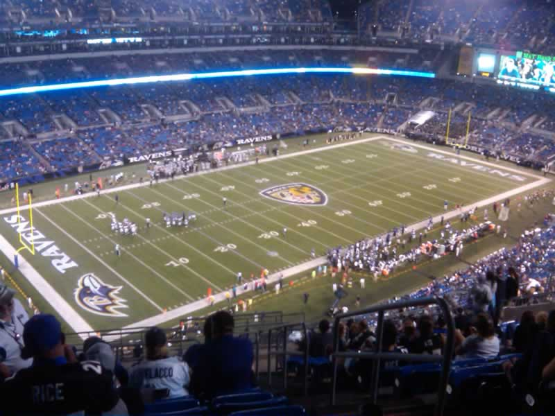 Seat View for M&T Bank Stadium Section 533, Row 19, Seat 2
