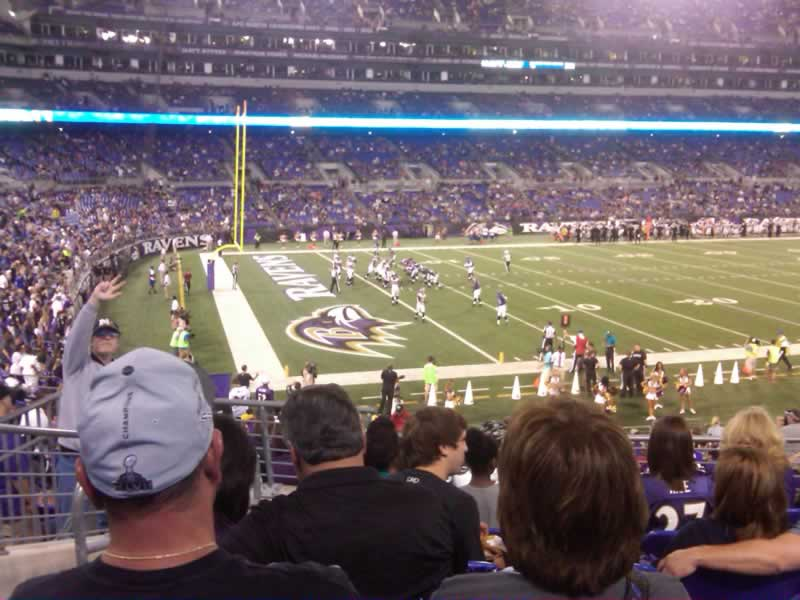 Seat View for M&T Bank Stadium Section 132, Row 25, Seat 15