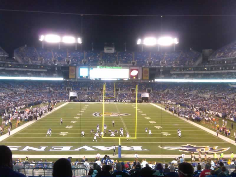 Seat View for M&T Bank Stadium Section 140, Row 40, Seat 18