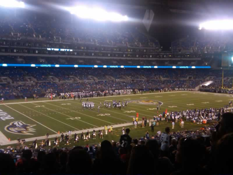 Seat View for M&T Bank Stadium Section 134, Row 40, Seat 23