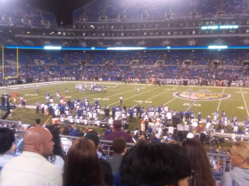 Seat View for M&T Bank Stadium Section 126, Row 23, Seat 6