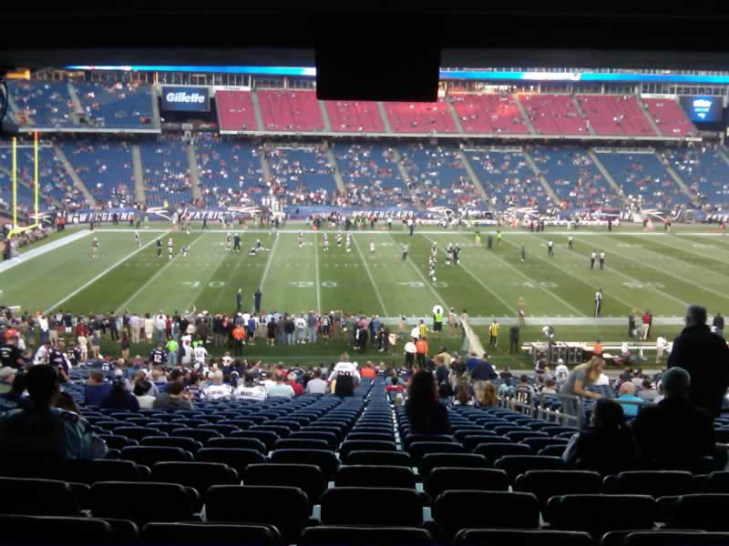 New England Patriots Seat View for Gillette Stadium Section 134, Row SRO