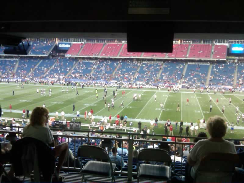 New England Patriots Seat View for Gillette Stadium Section 130, Row SRO