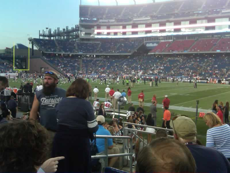 New England Patriots Seat View for Gillette Stadium Section 129, Row 6, Seat 17